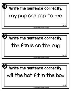 Write the Room...Sentence Editing {Kindergarten Edition}