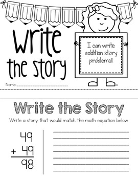 Write the Story - Writing Math Word Problems