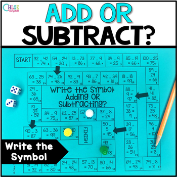 Write the Symbol: Addition or Subtraction Board Game