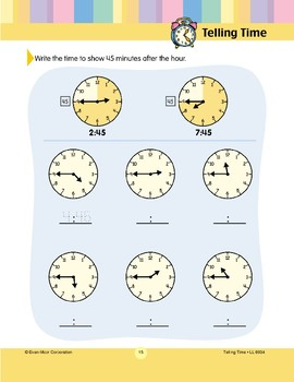 Write the Time (45 Minutes After)