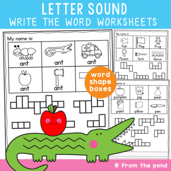 Beginning Sounds - Letter Sound Write the Word Worksheets