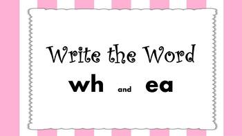 Write the Word PPT  Unit 3 Phonics International SRF  z, ea (head)