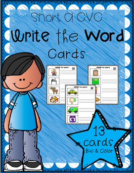 Write the Word Cards (Short A CVC)