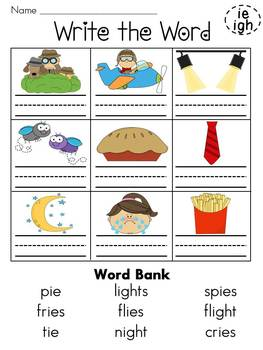 First Grade Phonics Homework
