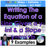 Write the equation of a line given a y-intercept and a slo