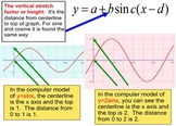 Writing Equations of all 6 Trig Functions Intro + 26 Assignments for Power Point