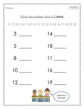 Write the number that is 1 more - What Comes Next?