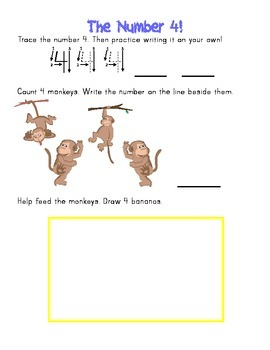 Write the numbers 1-10 and help feed the animals!