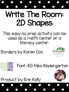 Write the room: 2-D Shapes
