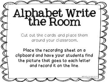 Write the Room: Alphabet!