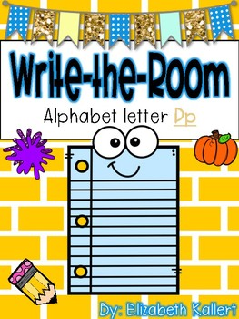 Write the room: Alphabet Letter P
