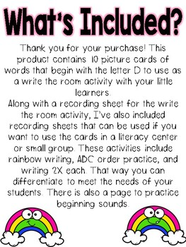 Write the room: Alphabet Letter Y
