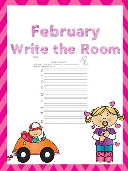 February Writing Activities / February Write the Room