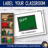 Classroom Labels Write the room