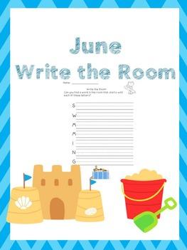 June Writing Activities / June Write the Room