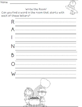 March Writing Activities / March Write the Room