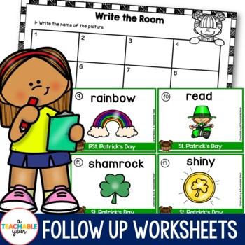 Write the room- Parts of Speech- St. Patrick's Day Edition