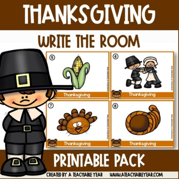 Write the room- Parts of Speech- Thanksgiving Edition