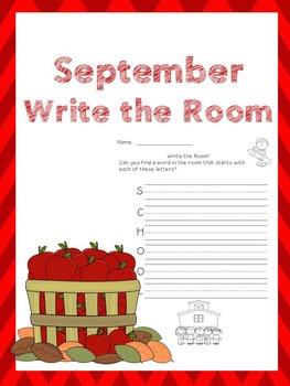 September Writing Activities / September Write the Room
