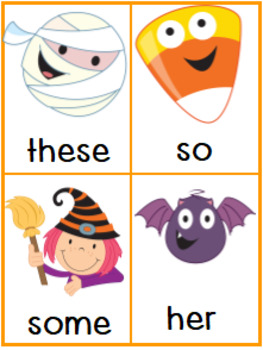 Write the room Sight Words Halloween
