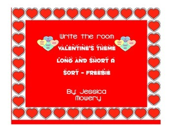 Write the room long and short a FREEBIE - Valentine's Themed!