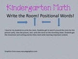 Write the room (positional words)