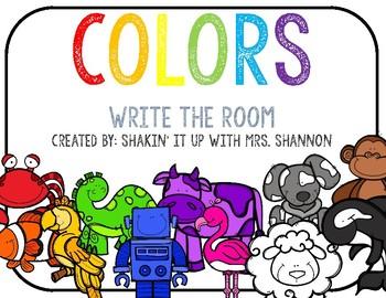 Write the room sentences: Colors