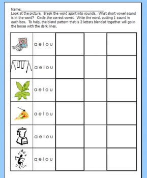 Write the word: Spelling Pattern Practice