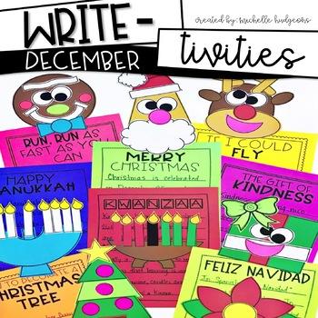 December Writing Prompts | Christmas, Reindeer, Hanukkah, Gingerbread