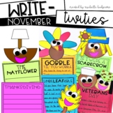 November Writing Prompts | Thanksgiving, Turkeys, Scarecrows, Veterans Day