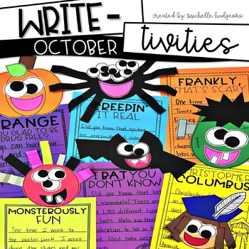 Write-tivities October (writing for Halloween, Drug Free, Columbus Day)