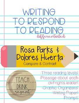 Write to Respond to Reading: Rosa and Dolores #WeHoldTheseTruths #KindnessNation