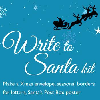 Write to Santa Kit including envelope maker, borders, poster