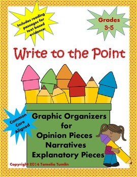 Write to the Point  (Graphic Organizers and Evidence Based Passages)