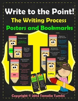 Write to the Point! The Writing Process Posters and Bookmarks! Grades 2-6