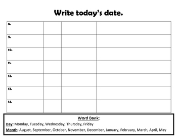 Write today's date