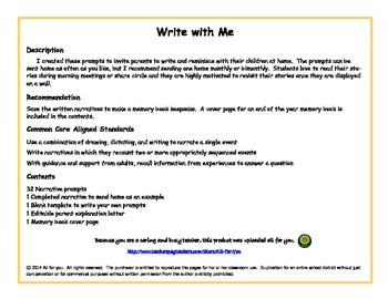 Write with Me - Writing Prompts