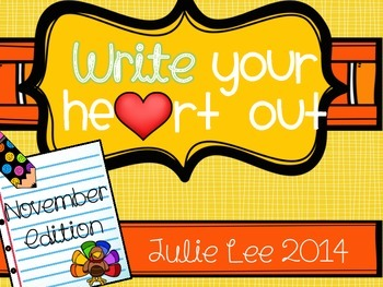 Write your Heart Out November Edition Writing