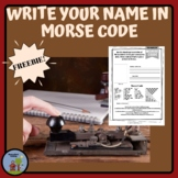 Write your Name in Morse Code