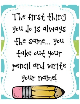 Write your name poster