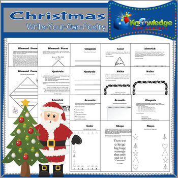 Write-your-own Christmas Poetry Notebook