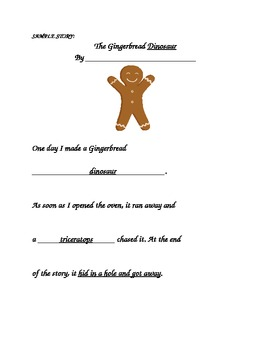 Write your own Gingerbread Story