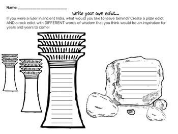 Write your own Indian Edict (rock and pillar)