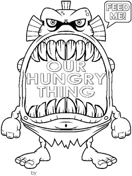 """Write your own """"Our Hungry Thing"""" book"""