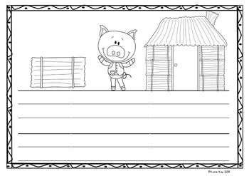 Write your own! The Three Little Pigs story writing activity! *Blank Lines*