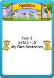 Write your own sentences Grade 3 Spelling lists 1