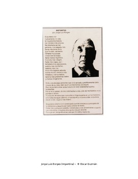 Write your own version of Jorge Luis Borges poem using the conditional tense.