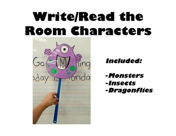 Write/Read the Room Characters or Pointers for Centres or Morning Message