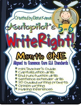 WriteRight!  Daily Writing Drills Month ONE {Common Core Aligned}