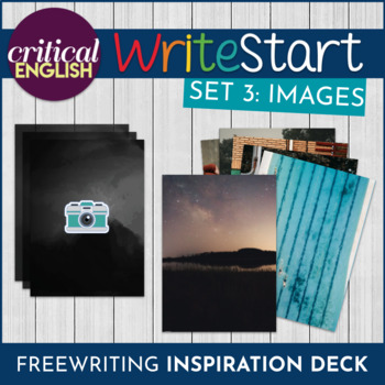 WriteStart Freewriting and Discussion Visual Inspiration Task Cards: Set of 48